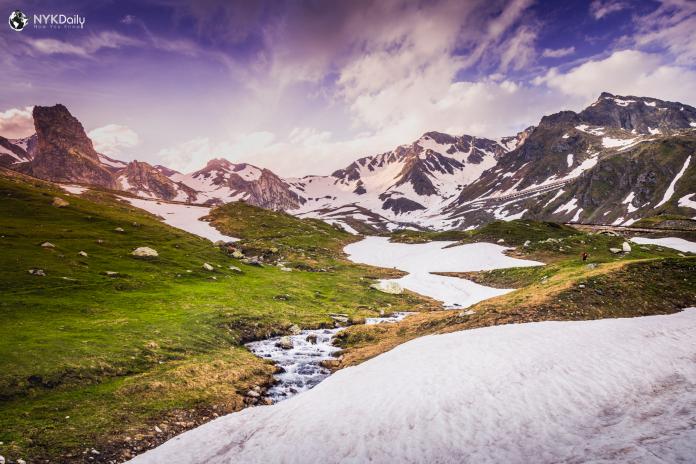 Швейцария-гора-снег-природа