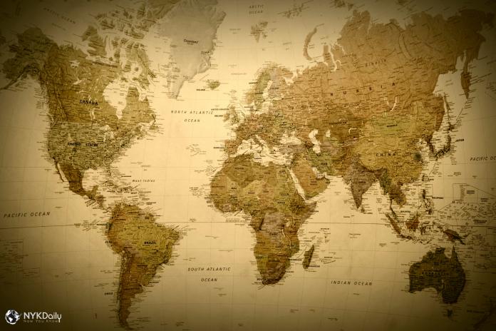 карта мира история