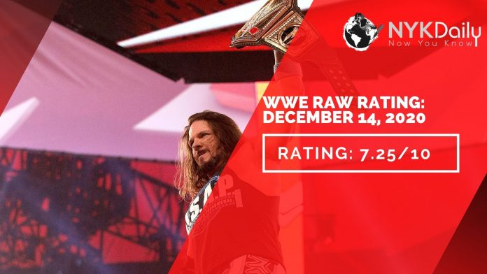 NYK rating of WWE RAW DECEMBER 14