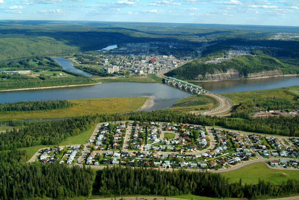 Fort McMurray with Athabasca River
