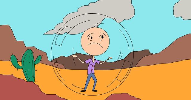 Introvert Desert Isolated Sad Bubble Cactus