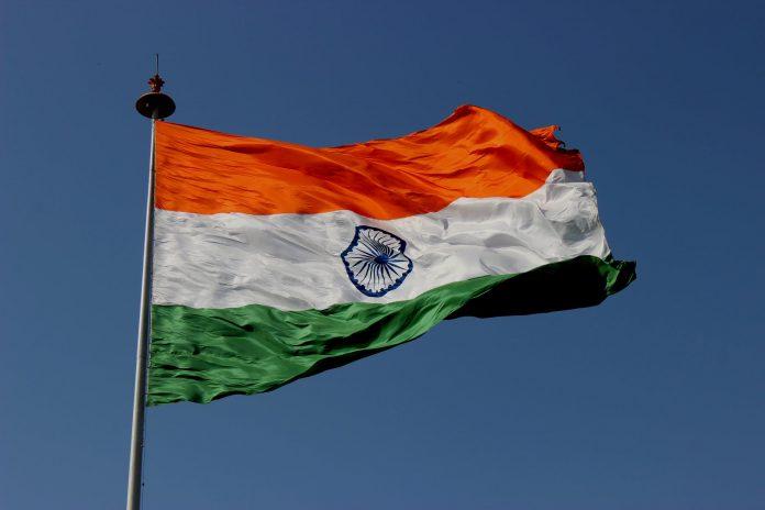 horizontally striped flag